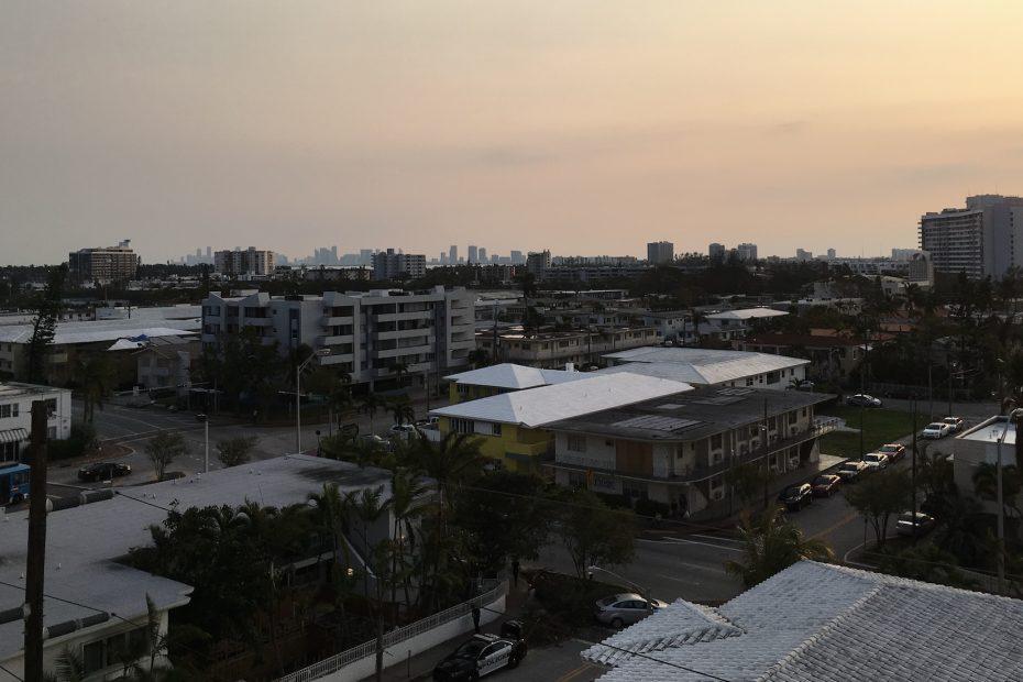 Miami Foto Stadt Silhouette